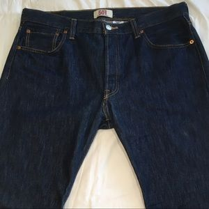 Levi's 501 Straight Leg Button Fly Blue